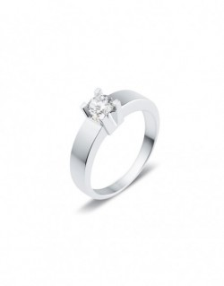 "Solitaire classique ""Luba"", diamant serti sur quatre griffes 0,40 carat"