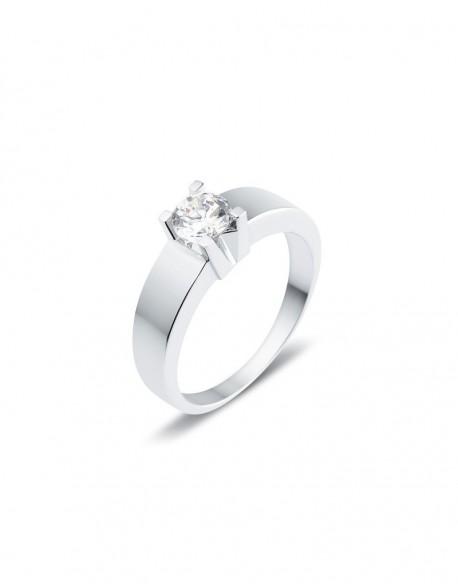 "Solitaire classique ""Luba"", diamant serti sur quatre griffes 0,50 carat"