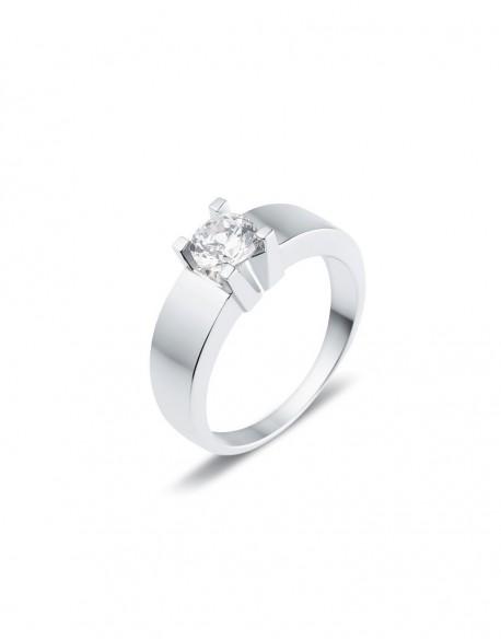 "Solitaire classique ""Luba"", diamant serti sur quatre griffes 0,70 carat"