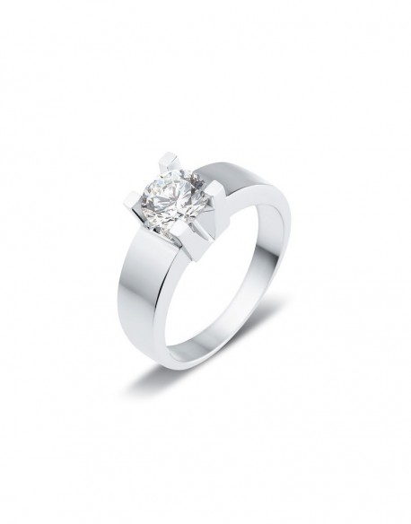 "Solitaire classique ""Luba"", diamant serti sur quatre griffes 1,00 carat"