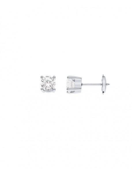 """Boucles d'oreilles clous diamants """"Aleksandra"""" montés sur quatre griffes 1,40 carats"""