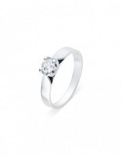 """Solitaire ruban """"Elza"""", diamant serti sur quatre griffes 0,30 carat"""