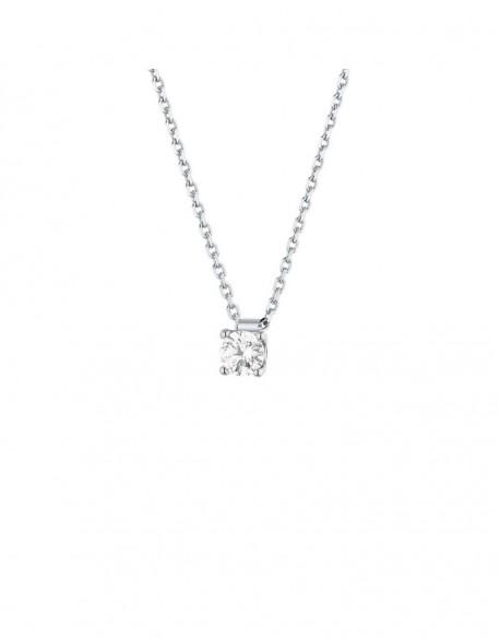 """Collier solitaire clous diamant """"Felissata"""" quatre griffes 0,30 carat"""