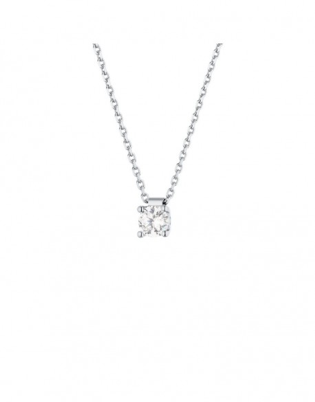"""Collier solitaire clous diamant """"Felissata"""" quatre griffes 0,40 carat"""
