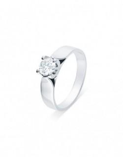 """Solitaire ruban """"Elza"""", diamant serti sur quatre griffes 0,50 carat"""