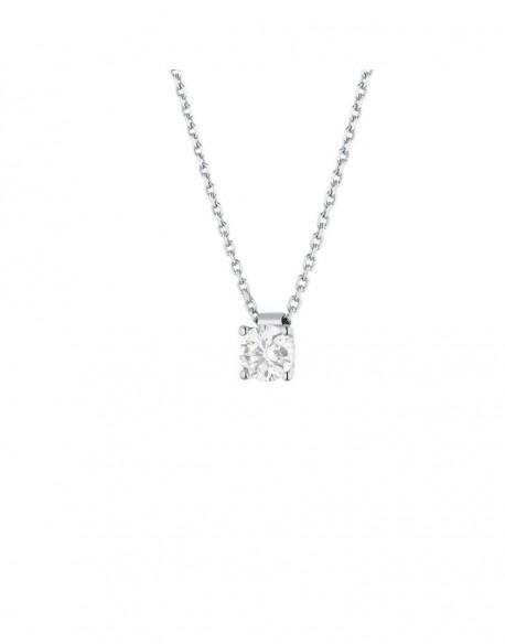 """Collier solitaire clous diamant """"Felissata"""" quatre griffes 0,50 carat"""