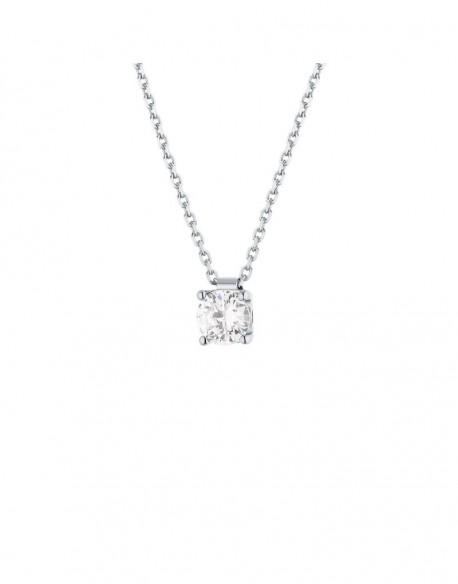 """Collier solitaire clous diamant """"Felissata"""" quatre griffes 0,70 carat"""