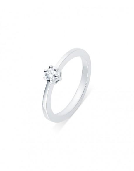 """Solitaire classique """"Errosa"""", diamant serti sur six griffes 0,15 carat"""