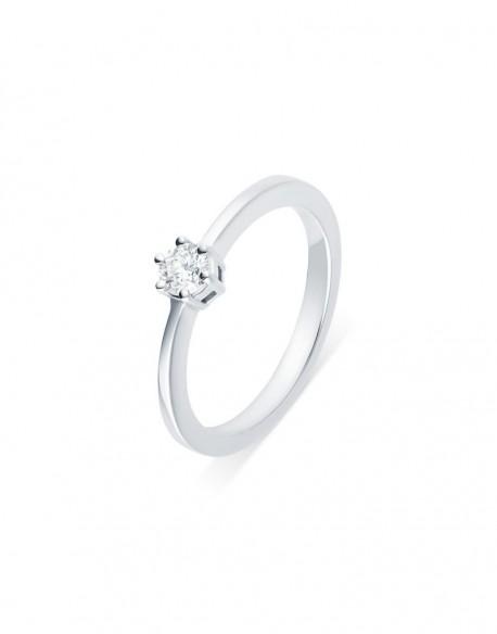 """Solitaire classique """"Errosa"""", diamant serti sur six griffes 0,25 carat"""