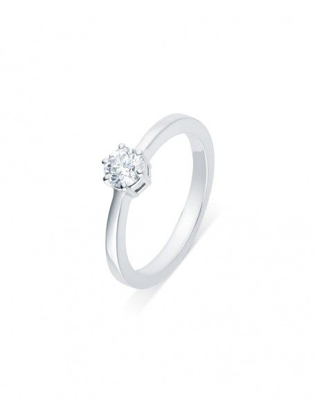 """Solitaire classique """"Errosa"""", diamant serti sur six griffes 0,40 carat"""