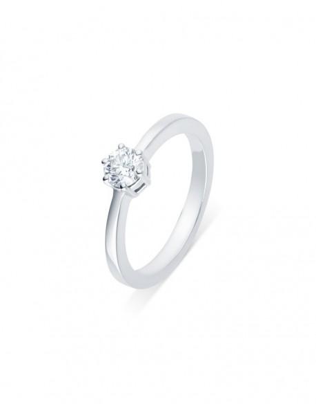 "Solitaire classique ""Viktorina"", diamant serti sur six griffes 0,40 carat"