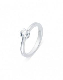 """Solitaire classique """"Errosa"""", diamant serti sur six griffes 0,50 carat"""