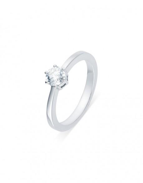 "Solitaire classique ""Viktorina"", diamant serti sur six griffes 0,50 carat"
