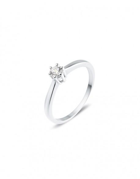 """Solitaire classique """"Galia"""", diamant serti sur six griffes 0,20 carat"""