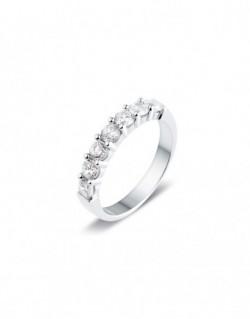 """Alliance semi-empierrée """"kanna"""", diamants sertis sur quatre griffes 1,00 carat"""