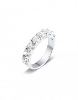 """Alliance semi-empierrée """"Iéfémia"""", diamants sertis sur quatre griffes 2,00 carat"""