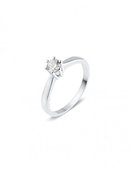 """Solitaire classique """"Galia"""", diamant serti sur six griffes 0,30 carat"""