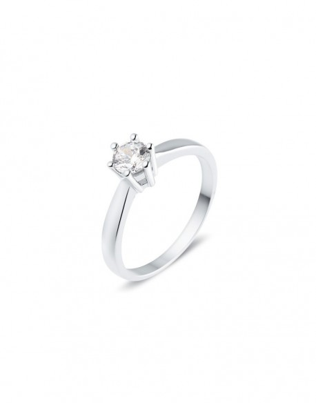 """Solitaire classique """"Galia"""", diamant serti sur six griffes 0,40 carat"""