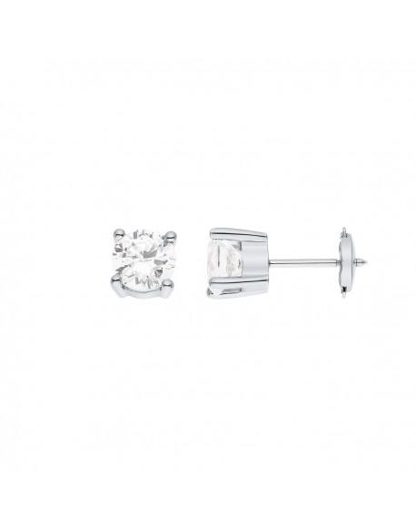 """Boucles d'oreilles clous diamants """"Ennia"""" montés sur quatre griffes 2,00 carats"""
