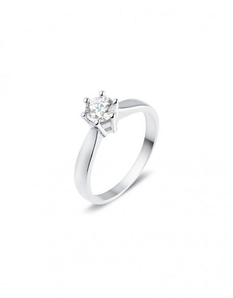 """Solitaire classique """"Galia"""", diamant serti sur six griffes 0,50 carat"""