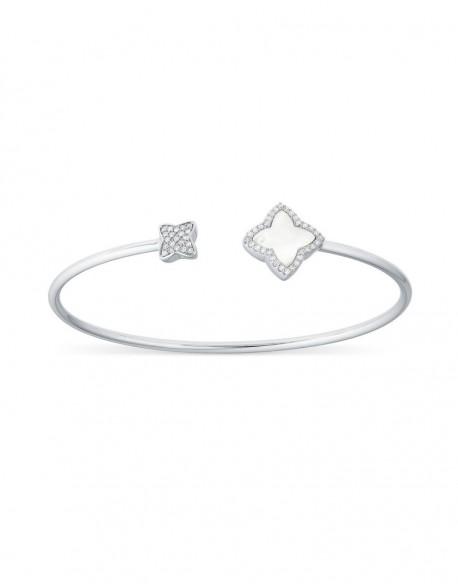 "Bracelet jonc nacre ""Senzia"" 0,24 carat"