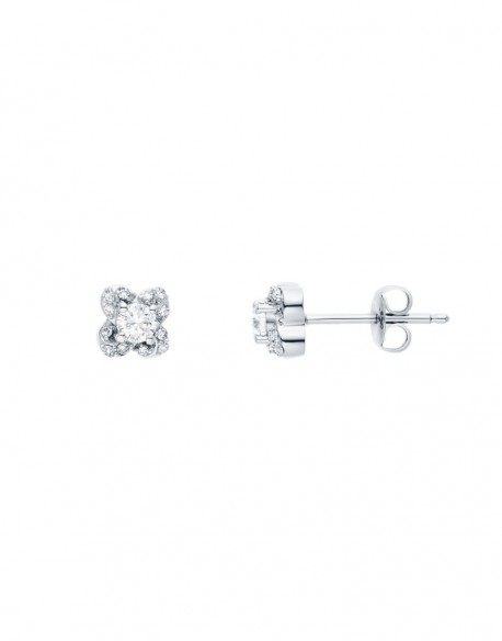 "Boucles d'oreilles diamants sertis grains ""Caja"" 0,29 carat"