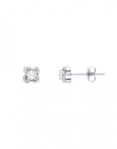 """Boucles d'oreilles diamants sertis grains """"Caja"""" 0,29 carat"""