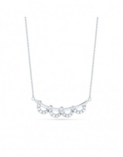 "Collier sertis grains ""Cadiz"" 0,12 carat"