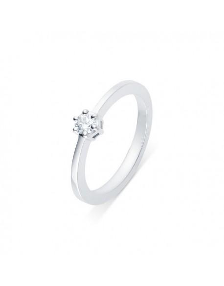 """Solitaire classique """"Errosa"""", diamant serti sur six griffes 0,10 carat"""