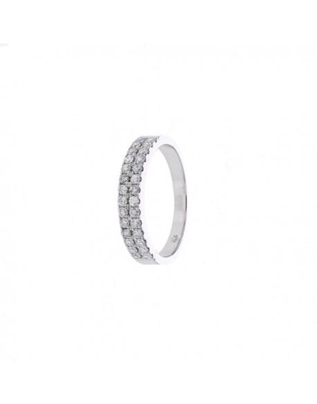 """Bague """"Luria"""" composée de deux rangs de diamants sertis avec des grains 0,56 carat"""