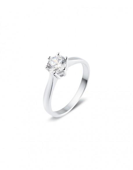 """Solitaire classique """"Galia"""", diamant serti sur six griffes 0,70 carat"""