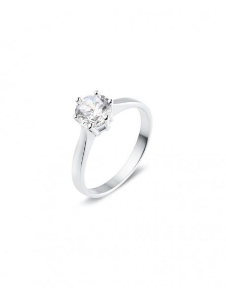 """Solitaire classique """"Galia"""", diamant serti sur six griffes 1,00 carat"""