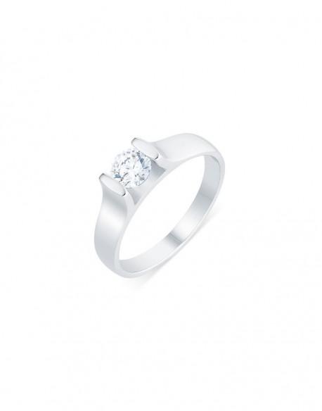 "Solitaire contemporain ""Roussana"", diamant serti massé 0,50 carat"