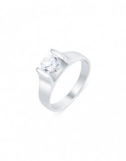 "Solitaire contemporain ""Roussana"", diamant serti massé 1,00 carat"