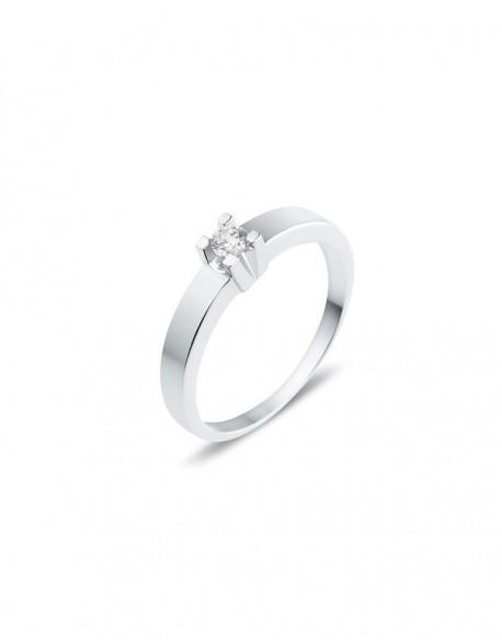 "Solitaire classique ""Luba"", diamant serti sur quatre griffes 0,10 carat"