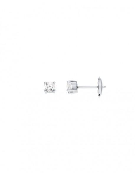 """Boucles d'oreilles clous diamants """"Ennia"""" montés sur quatre griffes 0,40 carats"""