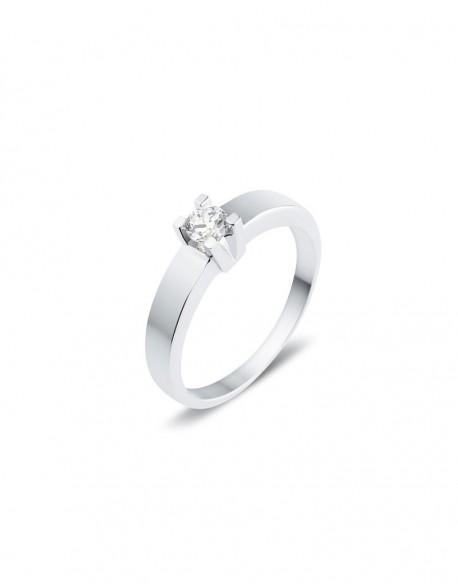 "Solitaire classique ""Luba"", diamant serti sur quatre griffes 0,20 carat"
