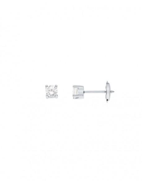"""Boucles d'oreilles clous diamants """"Ennia"""" montés sur quatre griffes 0,50 carats"""