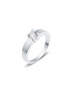 "Solitaire classique ""Luba"", diamant serti sur quatre griffes 0,30 carat"